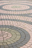 Patterned paving tiles. Footpath way pattern paving tiles Stock Photography