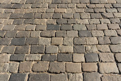 Patterned paving Stock Image