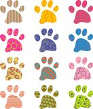 Patterned Paws Stock Photos