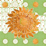 Patterned picture simple spring sunny meadow Royalty Free Stock Image