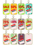 Patterned price tags Stock Photography