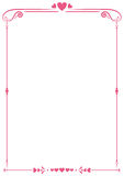 Valentine paper border Stock Photography