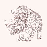 Patterned rhino Royalty Free Stock Photos