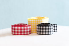 Patterned ribbons Stock Image