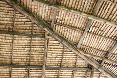 Patterned roof of a house. Stock Photo