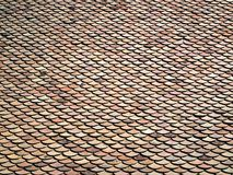 Patterned roof tiles. Abstract background Royalty Free Stock Photography