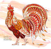 Patterned  rooster Royalty Free Stock Images