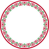 Patterned round frame Stock Photo