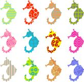 Patterned seahorse Stock Photography