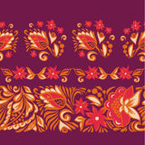 Patterned seamless borders.Russian painting Royalty Free Stock Photography