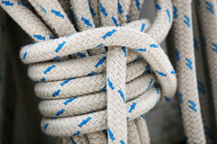 Patterned ship's rope Stock Photo