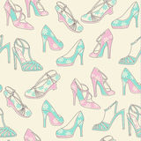 Patterned shoe print Royalty Free Stock Image