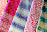 Patterned silk Thailand Royalty Free Stock Photo