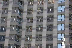 Patterned skyscraper mirror Royalty Free Stock Images