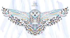 Patterned Snowy Owl Royalty Free Stock Photos