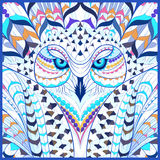 Patterned Snowy Owl Stock Image