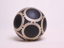 Patterned Soft Ball Isolation. Patterned soft rubber ball isolation royalty free stock image