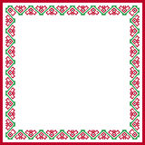 Patterned square frame Royalty Free Stock Photo