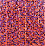 Patterned synthetic fabric closeup. Synthetic fabric closeup with vertical and horizontal lines Royalty Free Stock Images