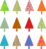 Patterned trees royalty free illustration