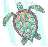 Patterned turtle Royalty Free Stock Images