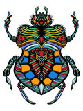 Patterned vector bug Stock Image