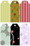 Patterned vector tag. Illustration of a set of six patterned tag isolated on white.EPS file available Stock Images