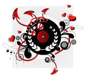 Patterned vinyl LP record Royalty Free Stock Photo