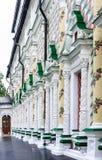 Patterned wall decoration Refectory, Trinity-Sergius Lavra.Sergiev Posad Stock Photo