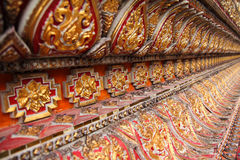 Patterned walls of the cathedral Stock Photos