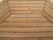 Patterned Weathered Wooden Deck. Wooden slats on a weathered wooden deck Royalty Free Stock Images
