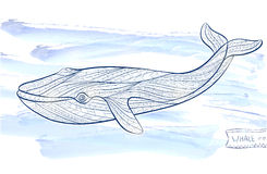 Patterned whale stock illustration