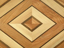 Patterned wooden parquet Stock Photography