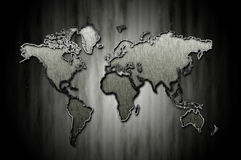Patterned World Map sign board Stock Photography