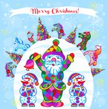 PatternPrint decorativo di vettore di inverno illustrazione di stock