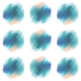 Patternr. Vector watercolor circles seamless pattern Royalty Free Stock Photography