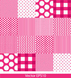 Patterns. Pink and white pattern squares. Vector background Royalty Free Stock Image