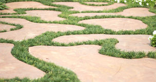 Patterns. Floor in the garden Royalty Free Stock Photography