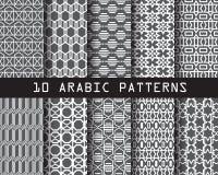 10 patterns3 arabi Immagine Stock