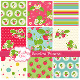 Patterns and Backgrounds - Strawberry vector illustration
