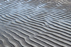 Patterns in the beach sand Royalty Free Stock Image