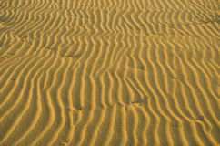 Patterns in the beach sand Stock Photo