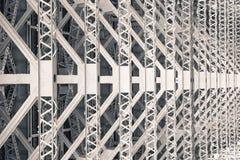 Patterns beneath harbour bridge Sydney Australia New South Wales. Black and white Stock Photography