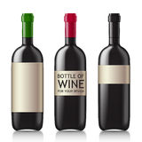 Patterns of black empty wine bottles Royalty Free Stock Images