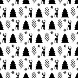 Patterns with black and white colors. Christmas seamless patterns with black and white colors royalty free illustration