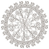 Patterns in black and white. Page for coloring book Royalty Free Stock Photos