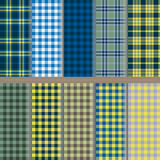 Patterns in the box. Ten plaid patterns in different color combinations Royalty Free Stock Photo