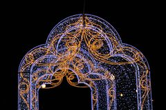 Patterns and bright lights decoration royalty free stock photo