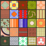 25 patterns. Can be used for wallpaper, web page, background Royalty Free Stock Photography