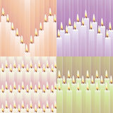 Patterns with candles Royalty Free Stock Photography